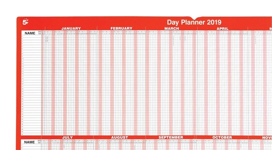 Business 2019 Day Planner Mounted (Pack of 1)