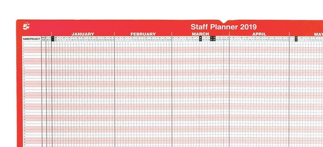 Business 2019 Staff Planner Unmounted (Pack of 1)