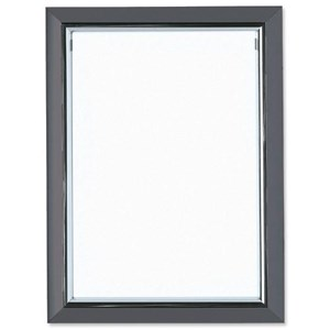 Business Deluxe Certificate Frame Styrene Front A4 Grey (Pack of 1)