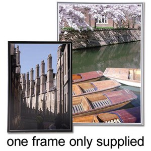 Business Picture Fast Frame Back Loading with Styrene Front A3 Silver (Pack of 1)