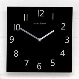 Business Wall Clock with Coloured Case Square Diameter 255mm White (Pack of 1)