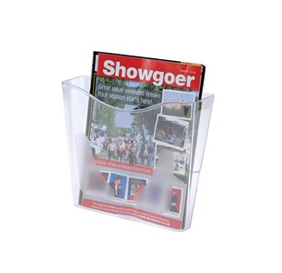 Deflecto Literature Holder Wall Mounted Pocket Portrait 255x265x95mm Clear Ref CP078YTCRY Each