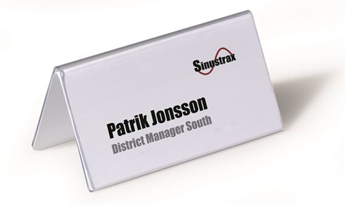 Durable 52x100mm Table Name Holders Pack of 25