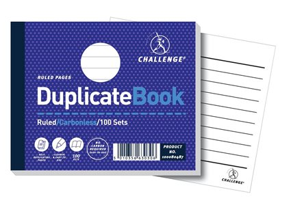 Challenge Duplicate Book Carbonless Ruled 105x130mm Ref 100080487