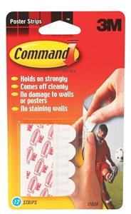 Command Adhesive Poster Strips S P12