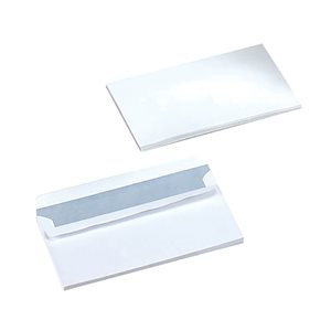 Business Office Envelopes PEFC Wallet Self Seal 90gsm DL 220x110mm White Pack 500