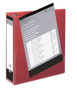 Business Red Polypropylene 50mm 4 D-Ring A4 Ring Binders Pack of 10