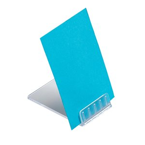 Business Retail Table Top Angled Card Display Point Of Sale PVC Clear (Pack of 10)