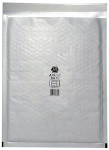 Jiffy Airkraft Bubble Lined Bags Size 7 Internal 340 x 445mm White Ref JL-7 Boxed 50