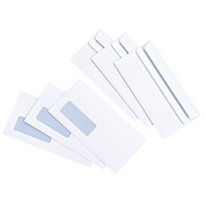 Basics Envelope Press Seal with Window 90gsm DL White (Pack of 1000)