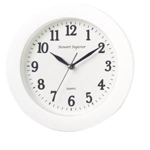 Business Wall Clock Round White (Pack of 1)