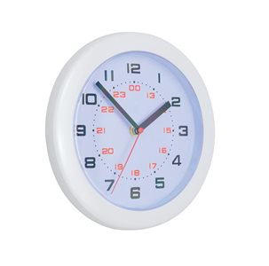 Business Controller Wall Clock 24 hour Diameter 250mm White (Pack of 1)